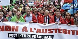 Manifestation syndicale européenne contre l'austérité