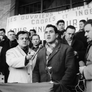Georges Prampart en 1964 sur les marches de Talensac