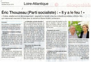 Interview Éric Thouzeau OF 20/06/2014