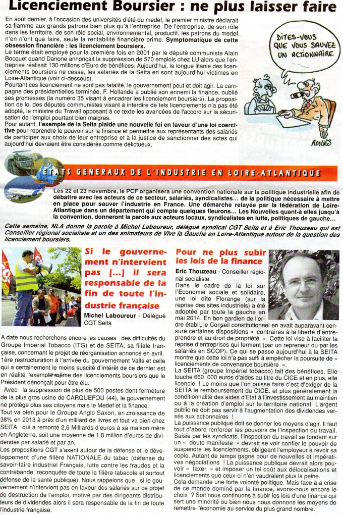 Les Nouvelles de Loire-Atlantique (journal du PCF 44)