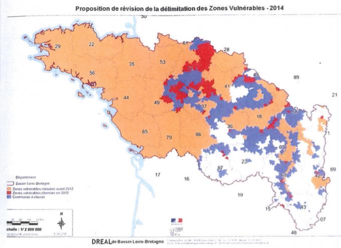 Proposition de révision Zones vulnérables 2014
