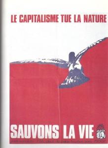 Affiche du PS après la marée noire (naufrage de l'Amoco Cadiz 1976)