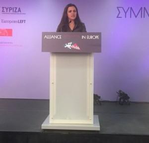 Marisa Matias du Bloc de Gauche du Portugal