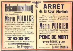 Marin Poirier arrêt cour martiale